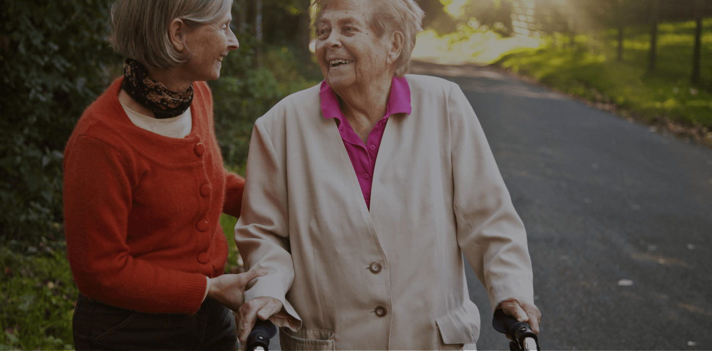 Senior woman advocate helping another senior woman